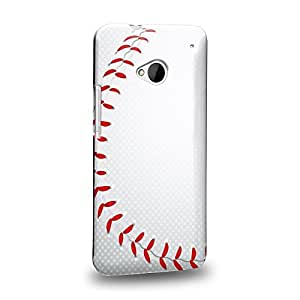 Case88 Premium Designs baseball pattern Protective Snap-on Hard Back Case Cover for HTC One M7