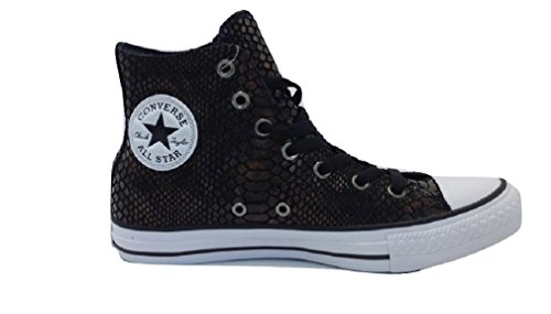 Converse Womens Chuck Taylor All Star Brown Black Canvas Trainers 8 US