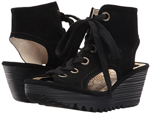 Pictures of FLY London Women's Yaba702fly Wedge Sandal Black 4