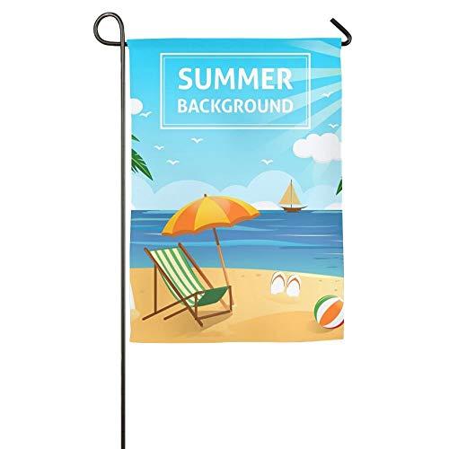 NOAID Custom Garden Flag 2018 Hello Summer Garden Flag 12