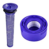 KEEPOW 2 Pack Pre and Post Filters Replacement for Dyson V7 and V8 Cordless Vacuum Filter Bundle, Replace # DY-96566101, DY-96747801