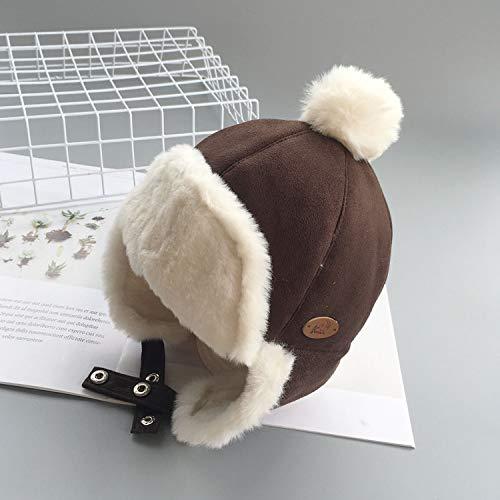 Warm Bomber Hats for Kids Thicken Cotton Fur Balaclava Cap Winter Earflap Russian Mask Trapper Hat Grey