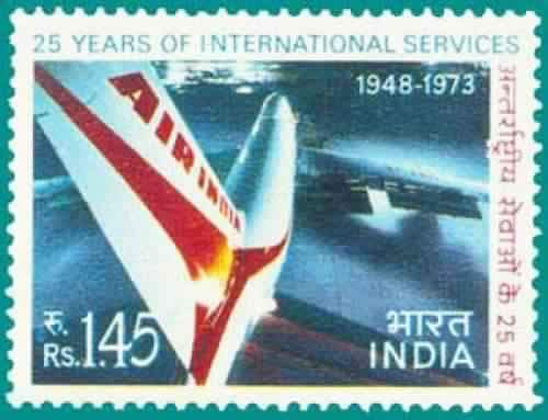 Sams Shopping Air-India International Services - 25th Anniversary Aviation Air India Anniversary Aircraft Airlines Stamp