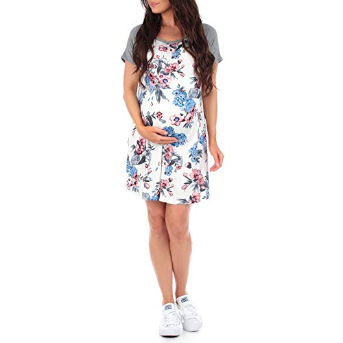 Women's Floral T-Shirt Maternity Dress in Regular and Plus Sizes by Mother Bee û Made in USA