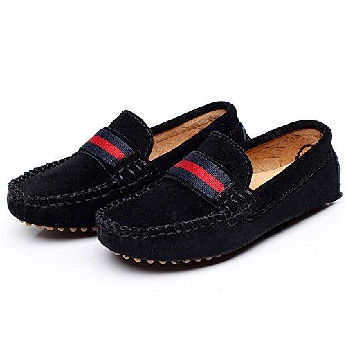 0048b7a7f46 Shenn Boys Girls Fashion Strap Slip-On Suede Leather Loafer Flats 2998   Amazon.ca  Shoes   Handbags