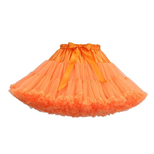 Donna Color Unica Tutu Gonna Caramello Gonne Qzbtu Taglia Rw5xI