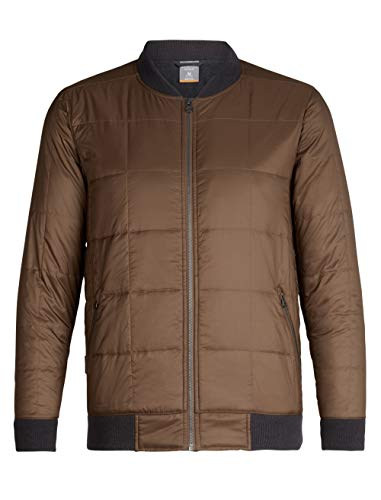 (Icebreaker Merino Men's Venturous Jacket Down Alternative Outerwear Coats, Medium, Tobacco/Walnut)
