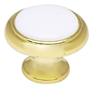 Achim Home Furnishings 767-KNB-24 Brass Plate and plastic Cabinet Knob, Set of 6