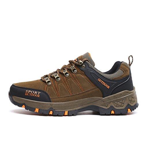 adulto botas XIGUAFR caño bajo marrón Unisex de waqHqdX
