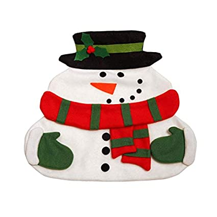 store homer 2 layers cute snowman pattern christmas table mat with napkin xmas dinner