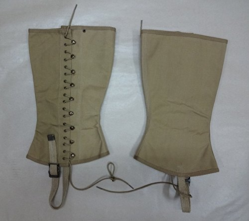 warreplica WWII US M1938 Dismounted Canvas Combat Field Leggings - Size 4R (Fits 17 to 18 inches) - Repro