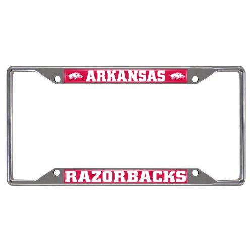 SLS Arkansas Razorbacks Colored Metal License Plate Frame