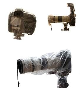 Protección de lluvia Cubierta universal para cámaras SLR - 2 piezas - que consiste en dos tamaños diferentes - adecuado para los modelos con flash