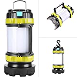LED Camping Lantern,Flashlights Lanterns,Rechargeable Tent Light,4 Light Modes, 2600mAh Power Bank, IPX4 Waterproof, Perfect for Hurricane Emergency, Outdoor, Hiking and Home