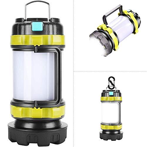 LED Camping Lantern,Flashlights Lanterns,Rechargeable Tent Light,4 Light Modes, 3600mAh Power Bank, IPX4 Waterproof…
