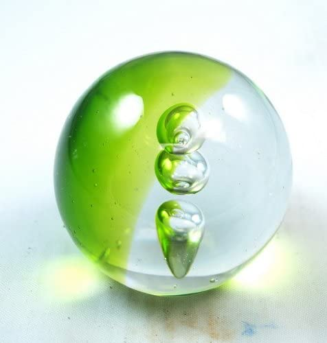 Tripact Inc M Design Art Handcraft 3 Bubbles Floating Through a Field Paperweight PW-665 Kitchen