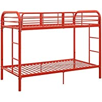 ACME Furniture 02178RD Thomas Bunk Bed, Twin over Twin, Red