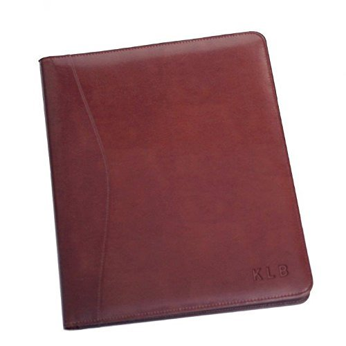 - Royce Leather Standard Size Writing Padfolio, BURGUNDY