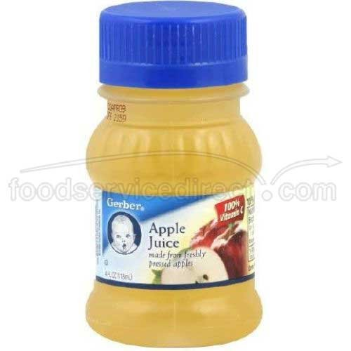Gerber Apple Juice, 4 oz (Pack of 24)