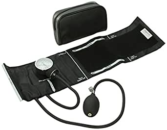 ADC 760-11ABK Prosphyg 760 Pocket Aneroid Sphygmomanometer with Adcuff Nylon Blood Pressure Cuff, Adult, Black