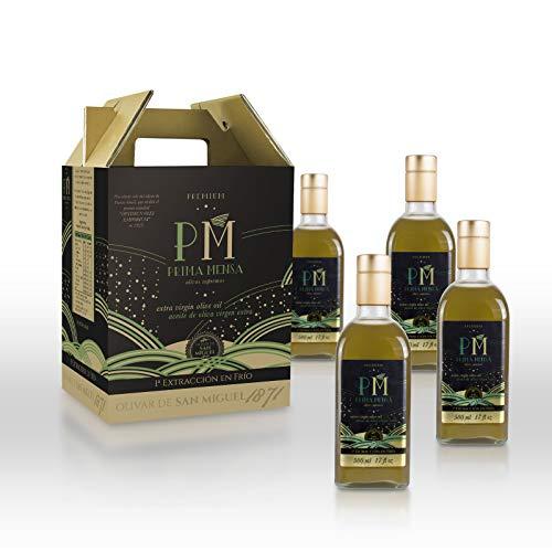 Prima Mensa sin filtrar - Aceite de Oliva Virgen Extra Premium Gourmet - 4 frascas de 500ml: Amazon.es: Alimentación y bebidas