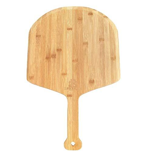 YEKKU Bamboo Wood Pizza Peel, Pizza Paddle Snijplank met handvat Houten Serveerpan Pizza Board voor Homeade Pizza, Brood…