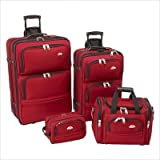 Samsonite 4-Piece Travel Set - Red