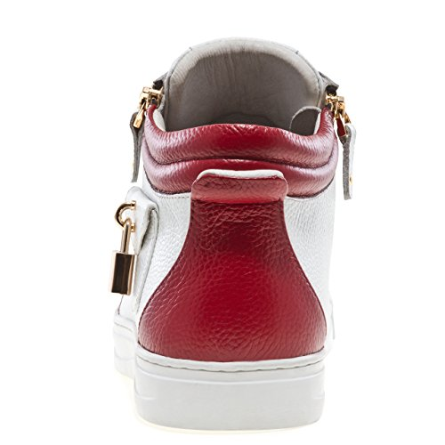 White Lace Jump Mid Round Burgundy J75 Men's Zappa Sneaker Toe Up Leather Top FwgHqF