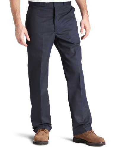 Plain Front Chino Pants - 7