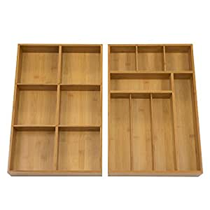seville classics kitchen pantry organizer seville classics 2 pack bamboo drawer 7898