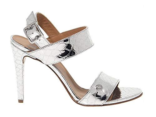Love Moschino Women's 1635 Silver Leather Sandals