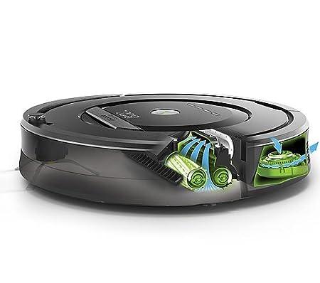 iRobot Aspiradora Roomba 880 limpieza Robot 2 faros de pared Virtual (con baterías) + Control remoto (con pilas) + 3 cepillos laterales Extra + Extra alta ...