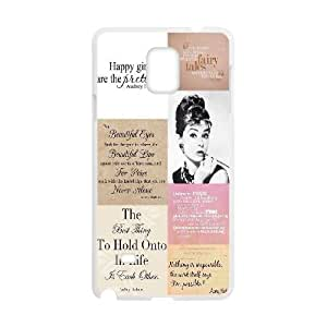 Audrey Hepburn Quotes Unique Fashion Printing Phone Case for Samsung Galaxy Note 4,personalized cover case ygtg-781170
