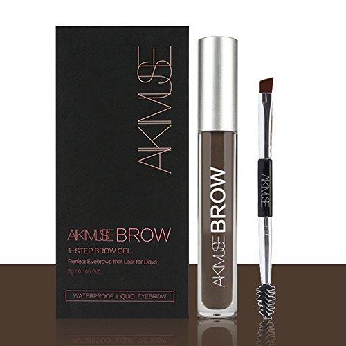 Long Lasting Eyebrow Gel for Waterproof Eyebrow Makeup, Black/Brown Color