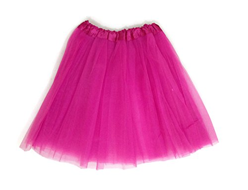 Kam Wing Cheong KWC – Princess Dance Costume Ballet Warrior Dash Fun 5K Run 3-Layer Skirt Tutu (Adult/Teen, Hot Pink) -