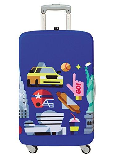 LOQI Hey Studio New York Luggage Cover, Medium