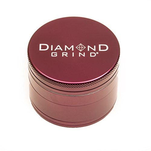 - Diamond Grind 4 Piece Aluminum Herb Grinder with screen 56mm (2.25