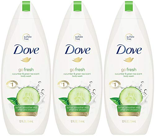 Dove Go Fresh Body Wash, Cucumber & Green Tea Scent, 12 Ounce (Pack of 3)