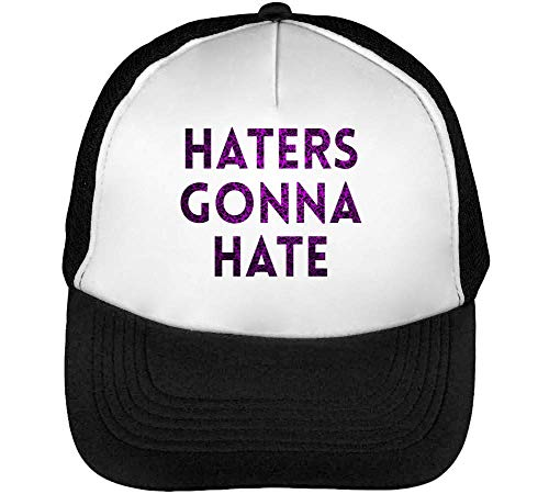 Haters Gonna Hate Celestial Gorras Hombre Snapback Beisbol Negro Blanco