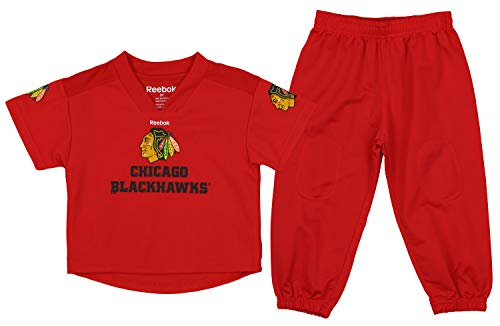 - Outerstuff NHL Toddlers NHL Chicago Blackhawks Goalie Two Piece Set, Red, 2T