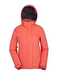 Mountain Warehouse Fresh Ice Womens Ski Jacket - Durable, Water Resistant, Windproof Fabric with Snow-Skirt, Adjustable Cuffs & Draw Cord Waist for Your Ideal Fit