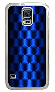 Samsung Galaxy S5 patterns abstract blue parallax 3d cubes 67 PC Custom Samsung Galaxy S5 Case Cover Transparent