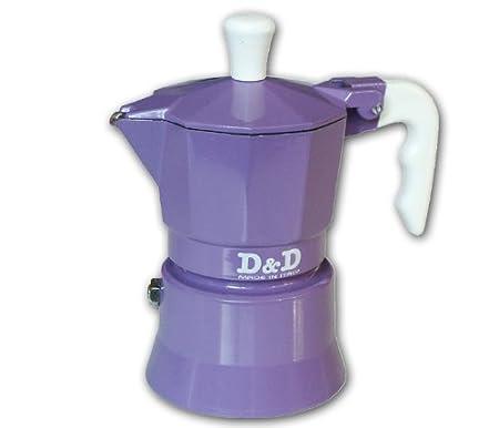 Espresso D & De Cafetera 3 Tazas, Diseño de Flores, Color Morado ...