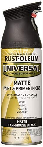 RUST-OLEUM 330505 12 oz Farmhouse Black Matte Finish Spray Paint