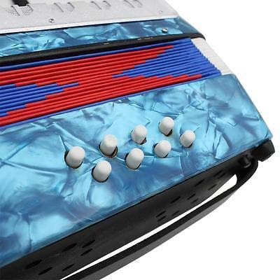 FidgetGear Blue Mini Small 17-Key 8 Bass Accordion Educational Toy for Kids Gift N0V6