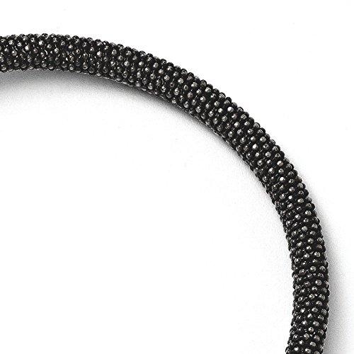 Argent 925/1000 plaqué ruthénium JewelryWeb-Bracelet magnétique