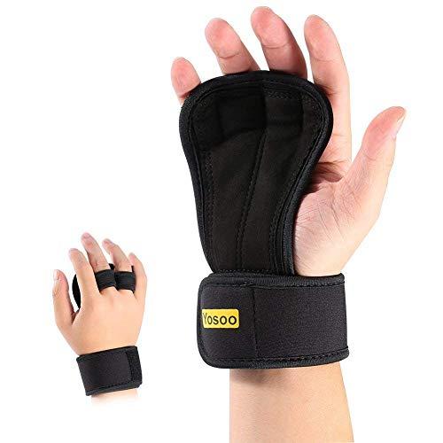 Guantes Para Crossfit 1 par unisex Peso ajustable pesas guantes con relleno anti-sudor para evitar el apoyo callos y neopreno...
