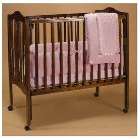 (Babydoll Heavenly Soft Portable Crib Bedding, Pink)