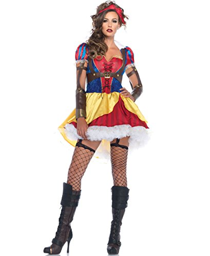 [Leg Avenue 85430 Rebel Snow White Halloween Costume - Multicolor - Large] (Rebel Snow White Adult Womens Costumes)