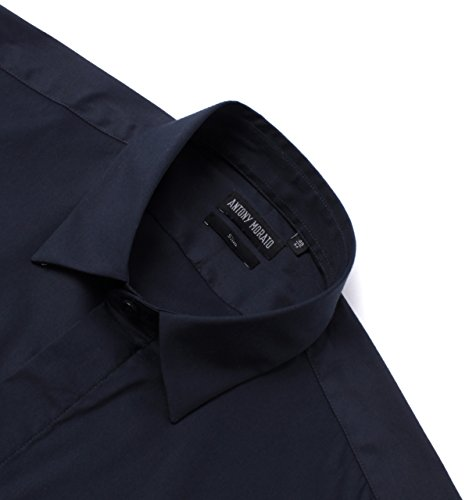 Antony Morato Deep Blue Short Sleeve Slim Fit Shirt